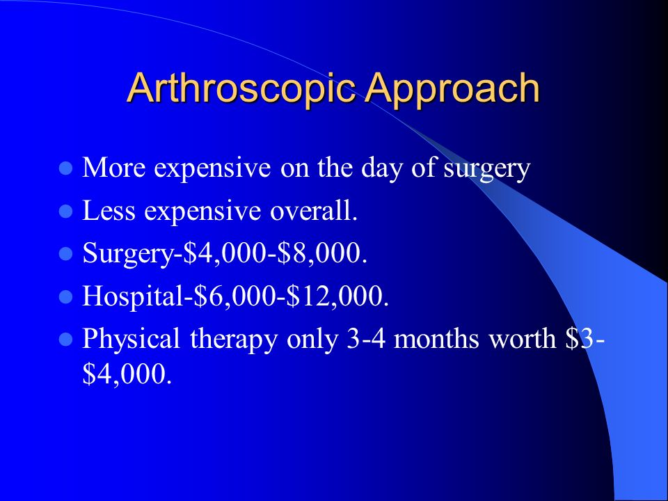 Arthroscopic Approach