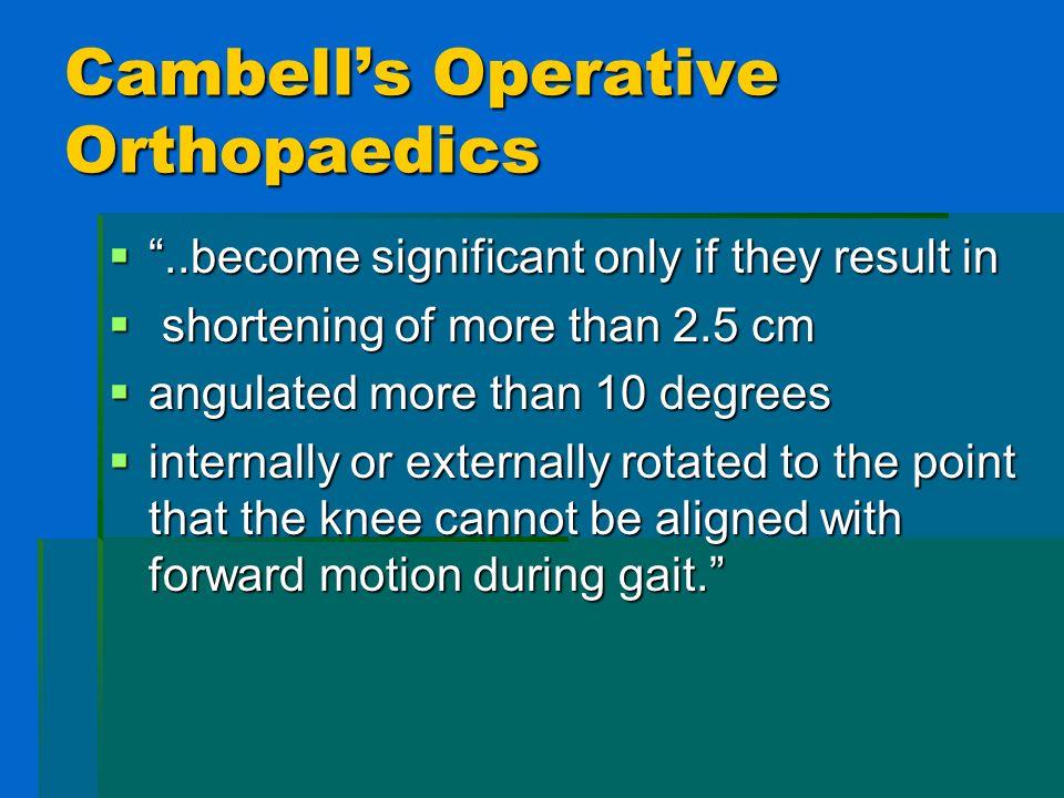 Cambell's Operative Orthopaedics
