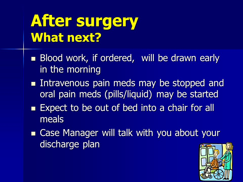 After surgery What next