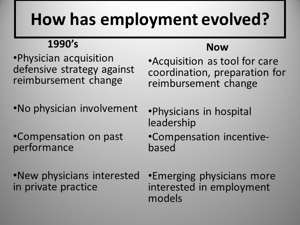 How has employment evolved