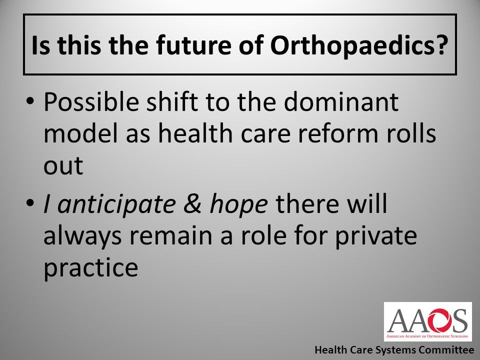 Is this the future of Orthopaedics