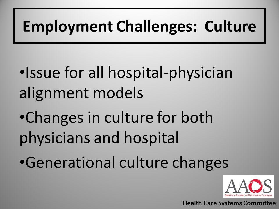 Employment Challenges: Culture