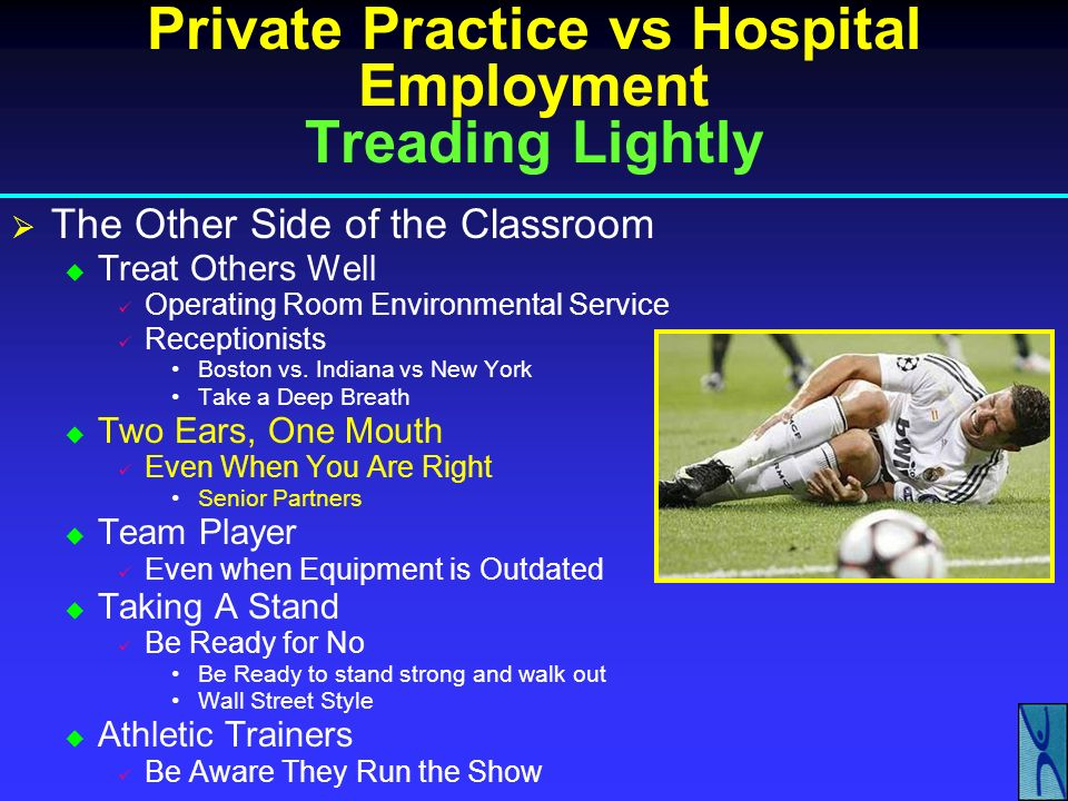 Private Practice vs Hospital Employment Treading Lightly