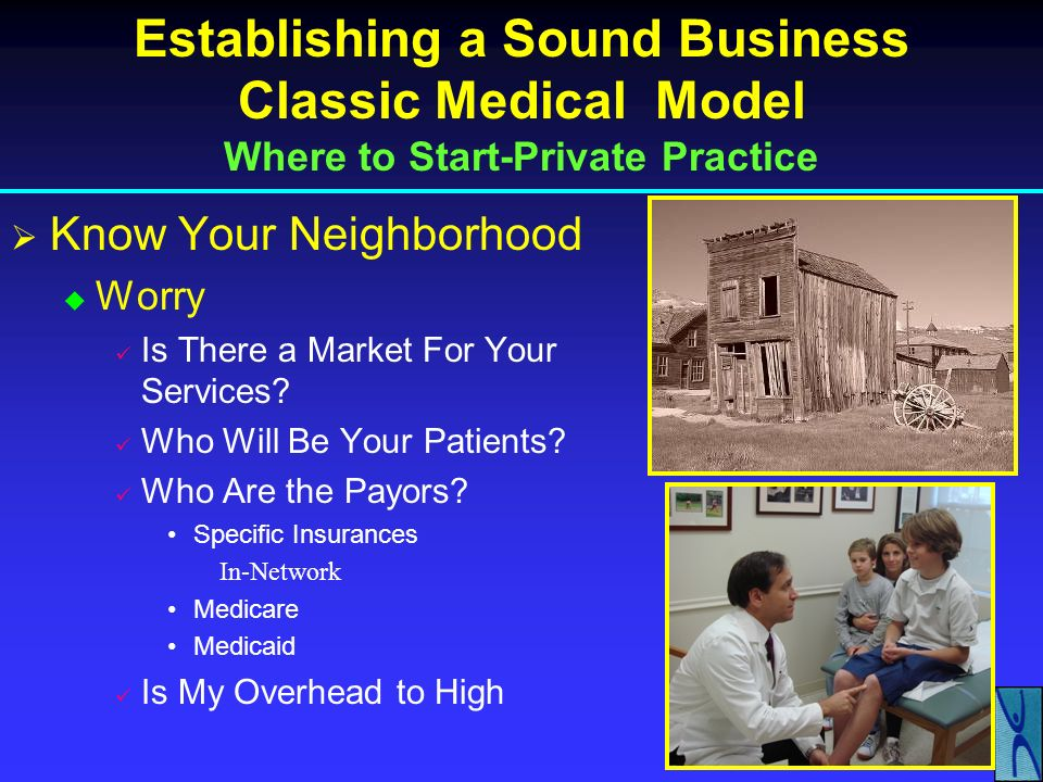 Establishing a Sound Business Classic Medical Model Where to Start-Private Practice