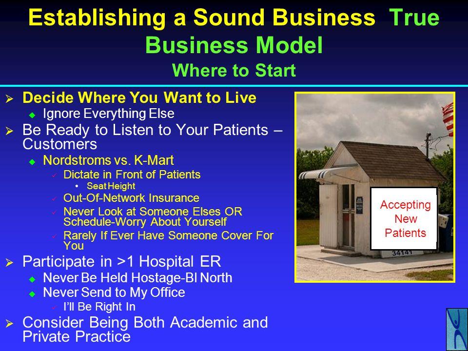 Establishing a Sound Business True Business Model Where to Start