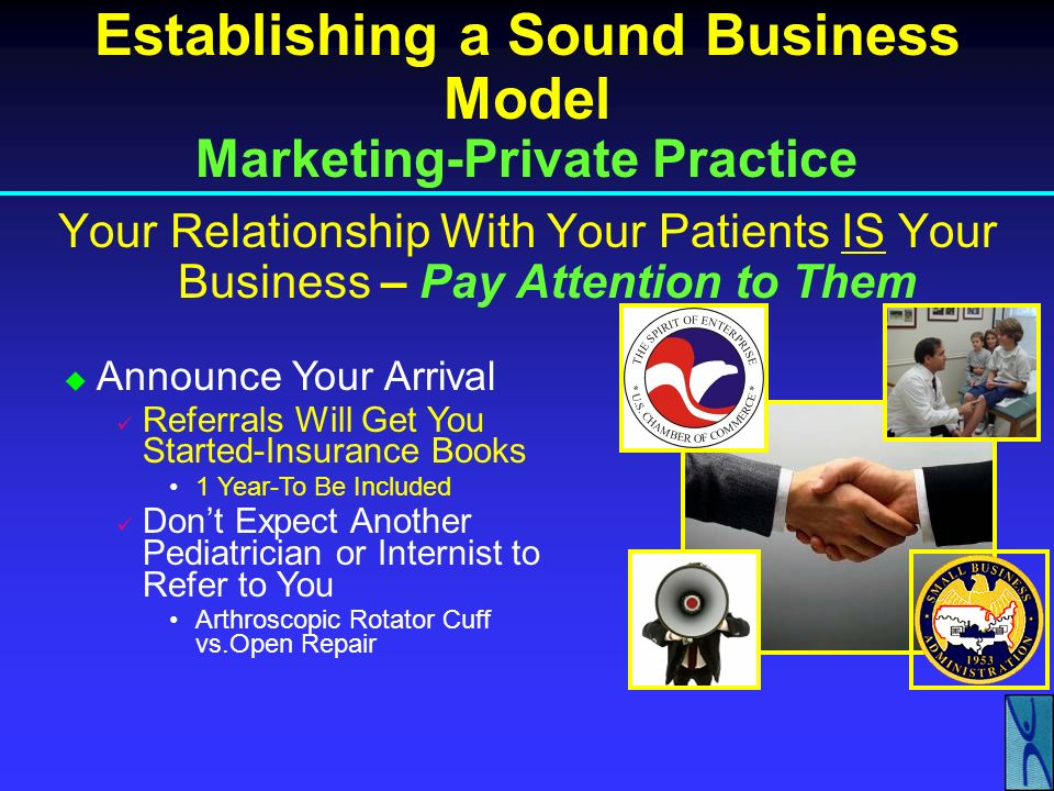 Establishing a Sound Business Model Marketing-Private Practice