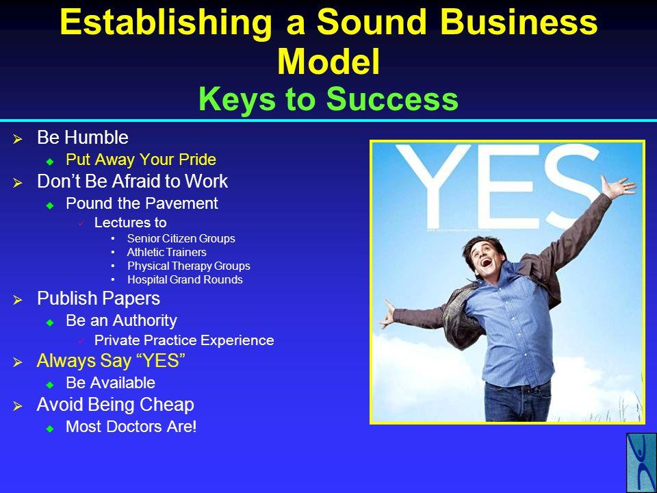Establishing a Sound Business Model Keys to Success