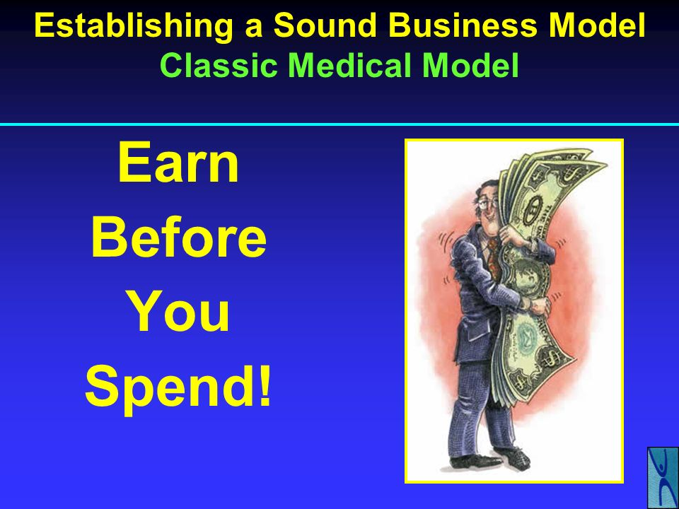 Establishing a Sound Business Model Classic Medical Model