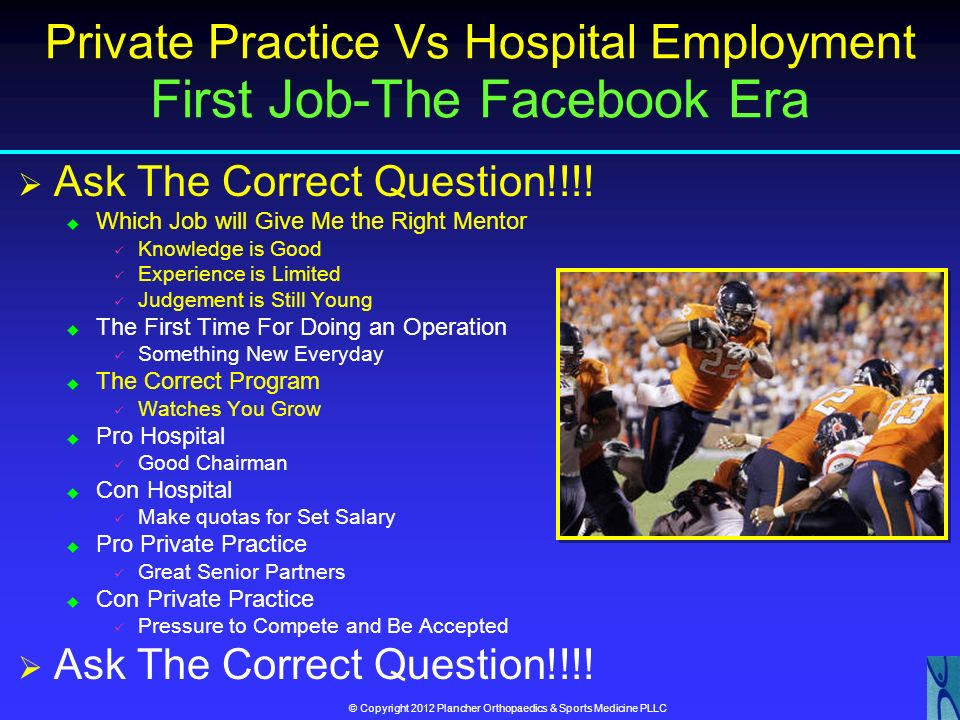 Private Practice Vs Hospital Employment First Job-The Facebook Era