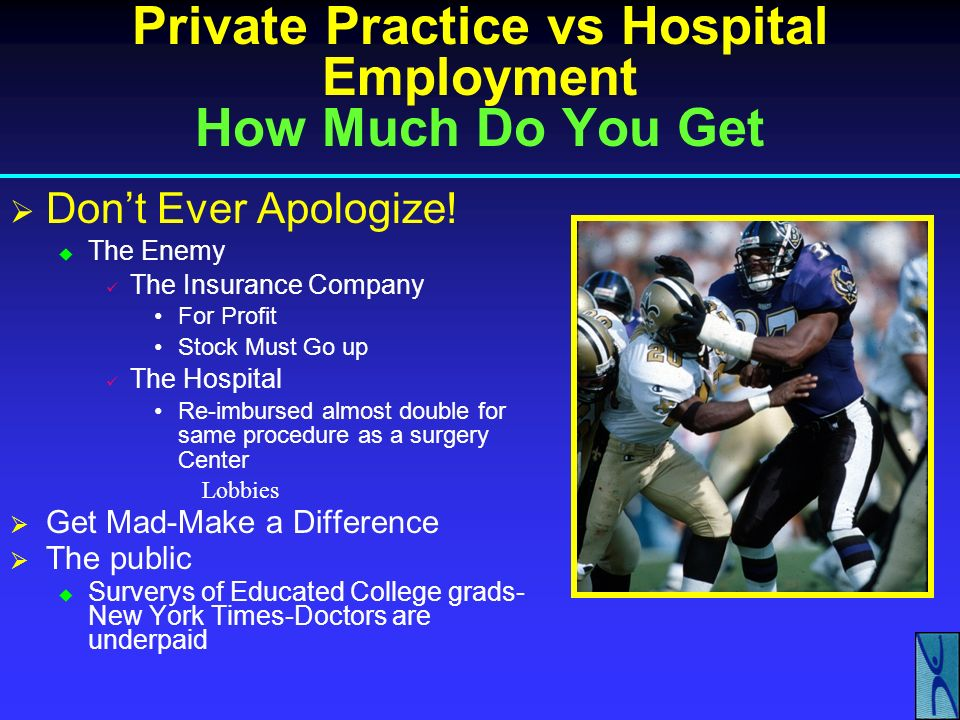 Private Practice vs Hospital Employment How Much Do You Get