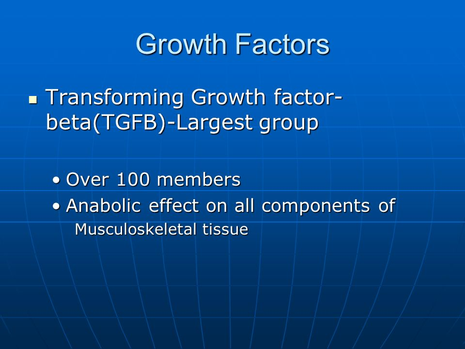 Growth Factors Transforming Growth factor-beta(TGFB)-Largest group