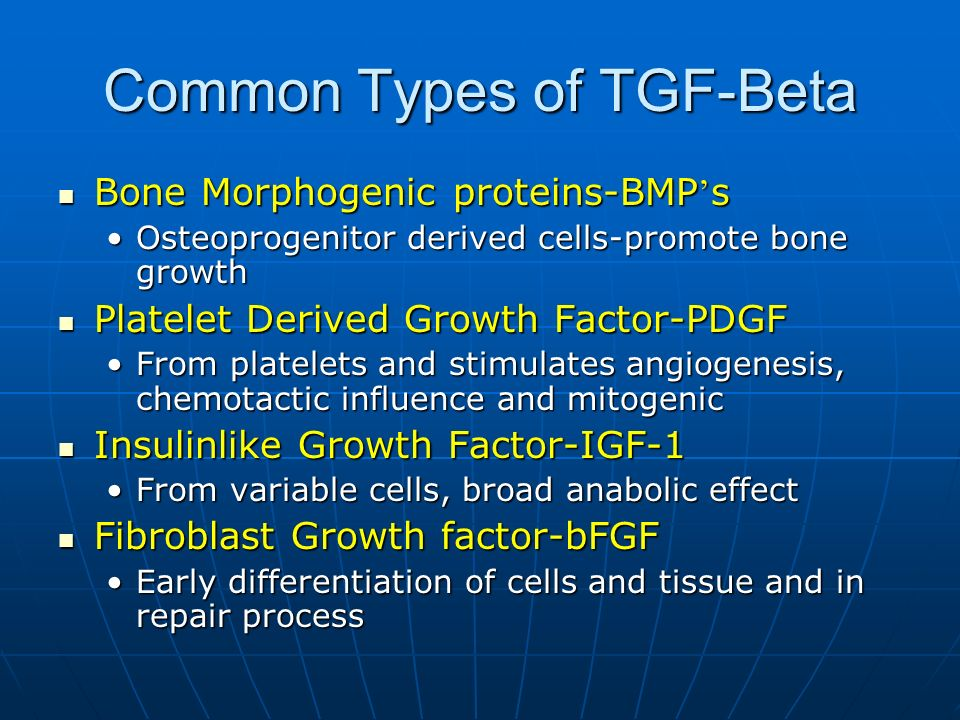 Common Types of TGF-Beta