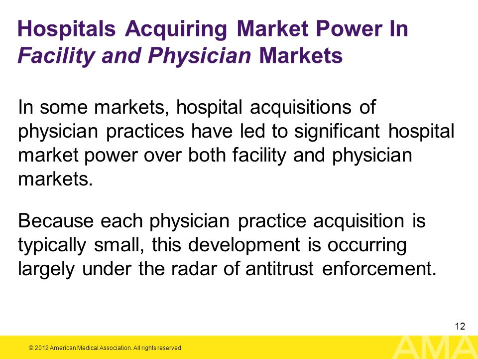 Hospitals Acquiring Market Power In Facility and Physician Markets