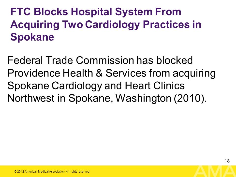 FTC Blocks Hospital System From Acquiring Two Cardiology Practices in Spokane