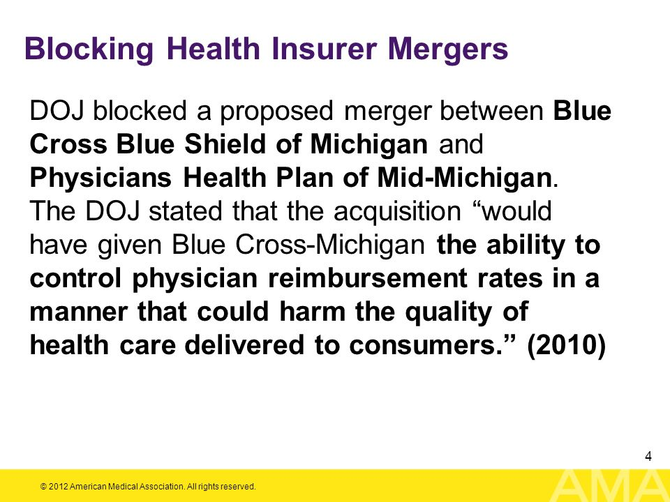 Blocking Health Insurer Mergers