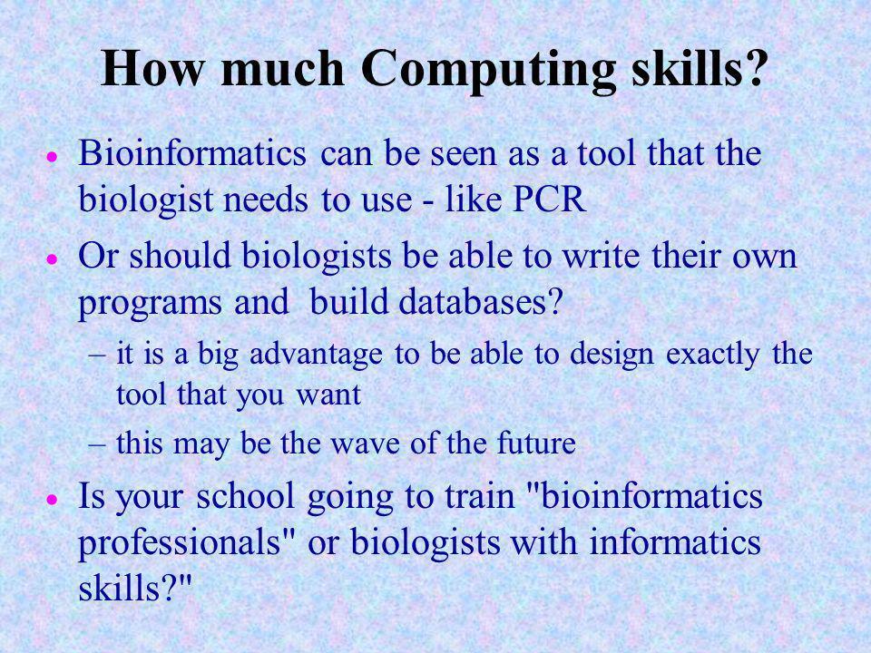 How much Computing skills