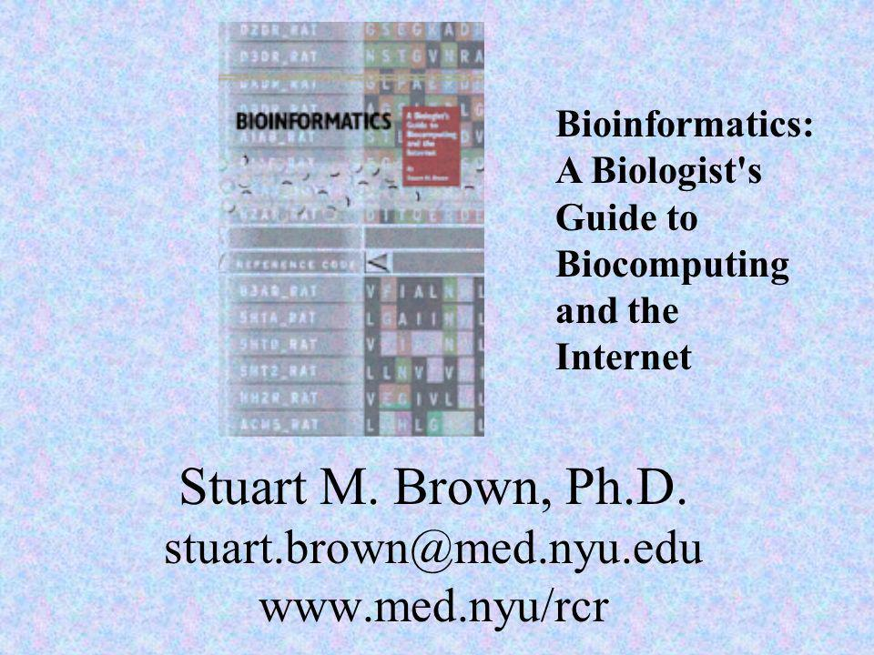 Stuart M. Brown, Ph.D. stuart.brown@med.nyu.edu www.med.nyu/rcr
