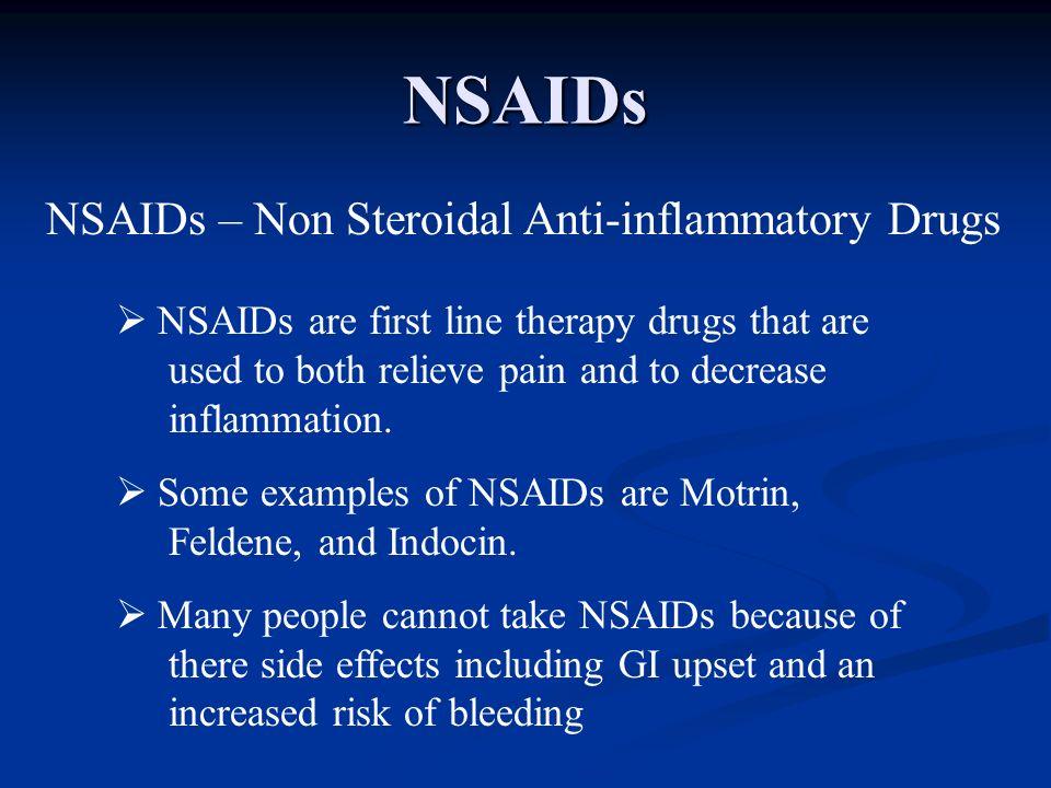 NSAIDs NSAIDs – Non Steroidal Anti-inflammatory Drugs