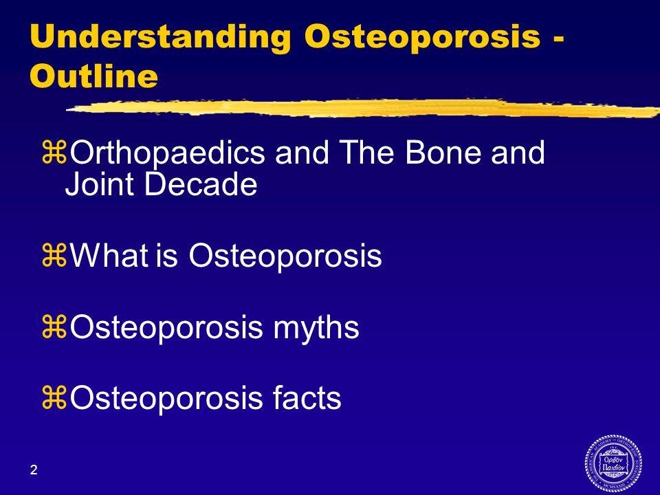 Understanding Osteoporosis -Outline