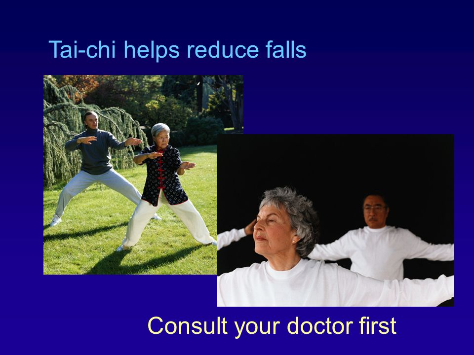 Tai-chi helps reduce falls
