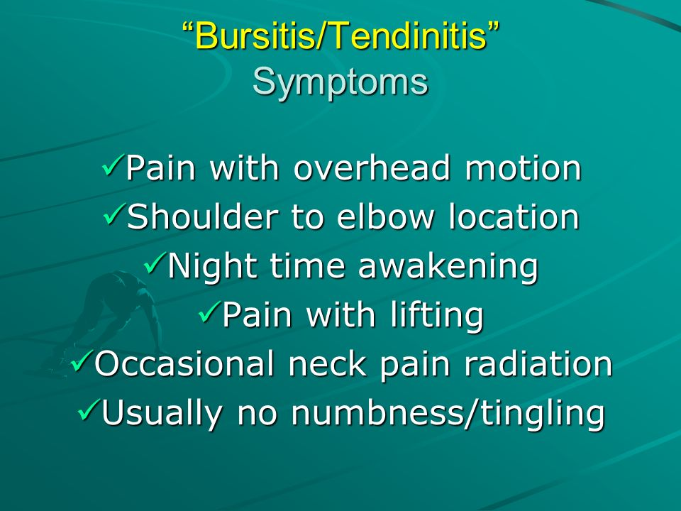 Bursitis/Tendinitis Symptoms