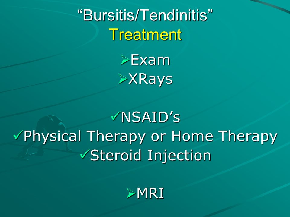 Bursitis/Tendinitis Treatment