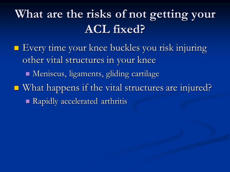 What are the risks of not getting your ACL fixed