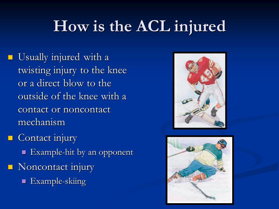 How is the ACL injured