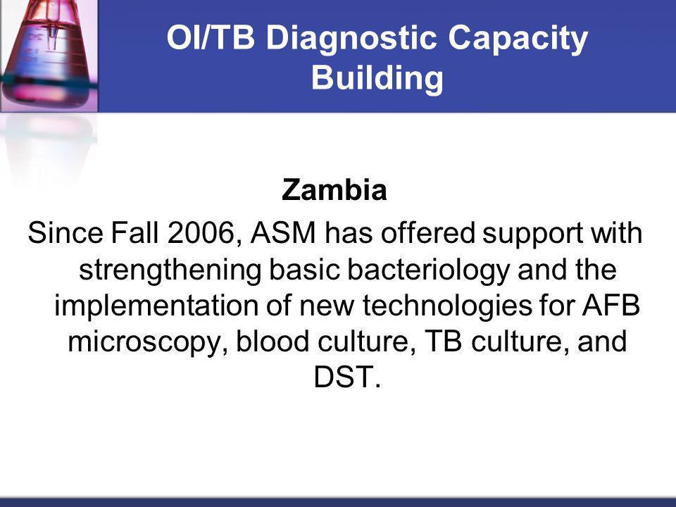 OI/TB Diagnostic Capacity Building