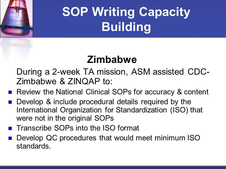SOP Writing Capacity Building