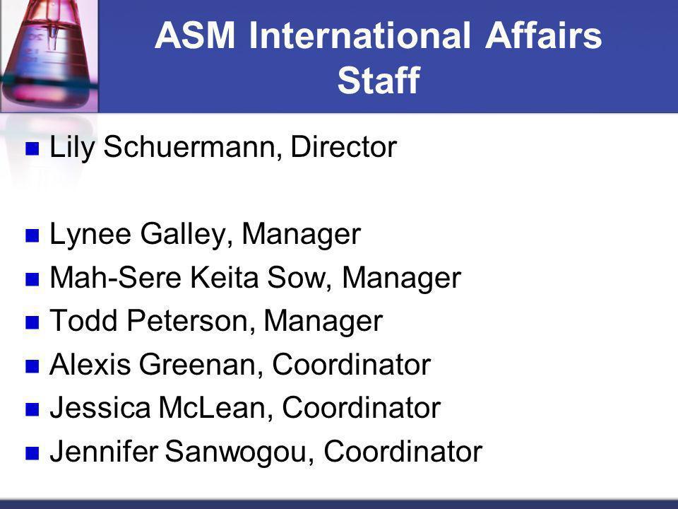 ASM International Affairs Staff