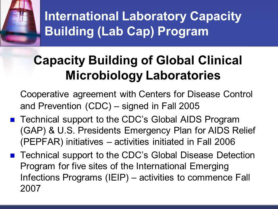 International Laboratory Capacity Building (Lab Cap) Program