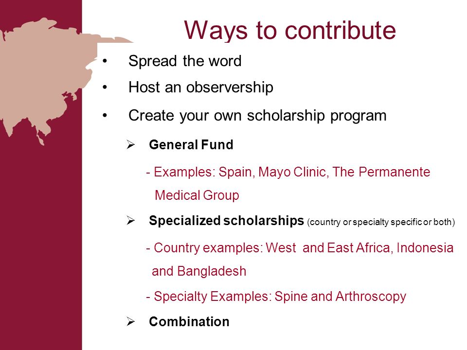 Ways to contribute Spread the word Host an observership