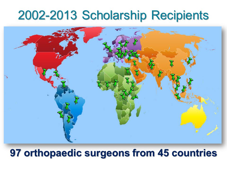 97 orthopaedic surgeons from 45 countries