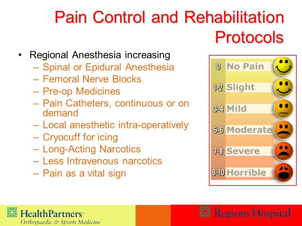 Pain Control and Rehabilitation Protocols
