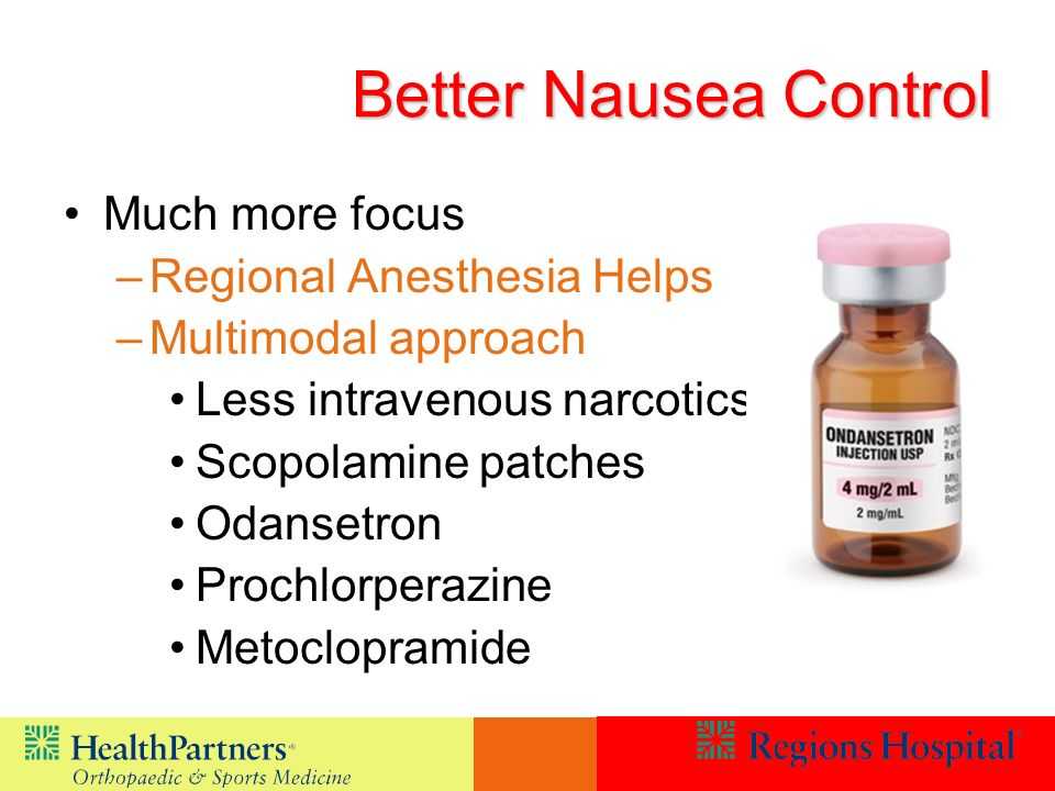 Better Nausea Control Much more focus Regional Anesthesia Helps