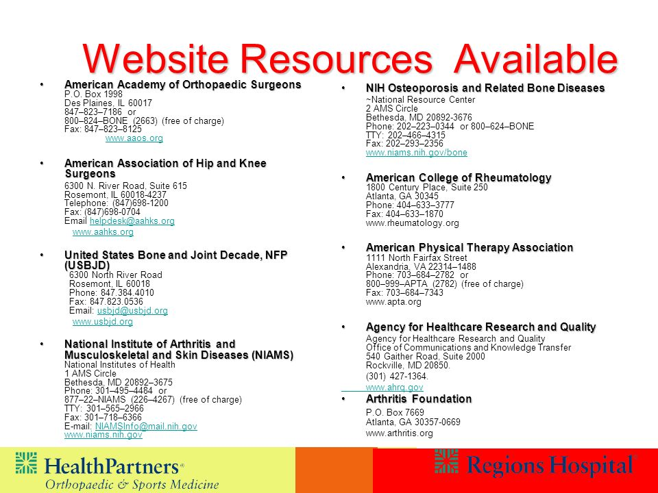 Website Resources Available