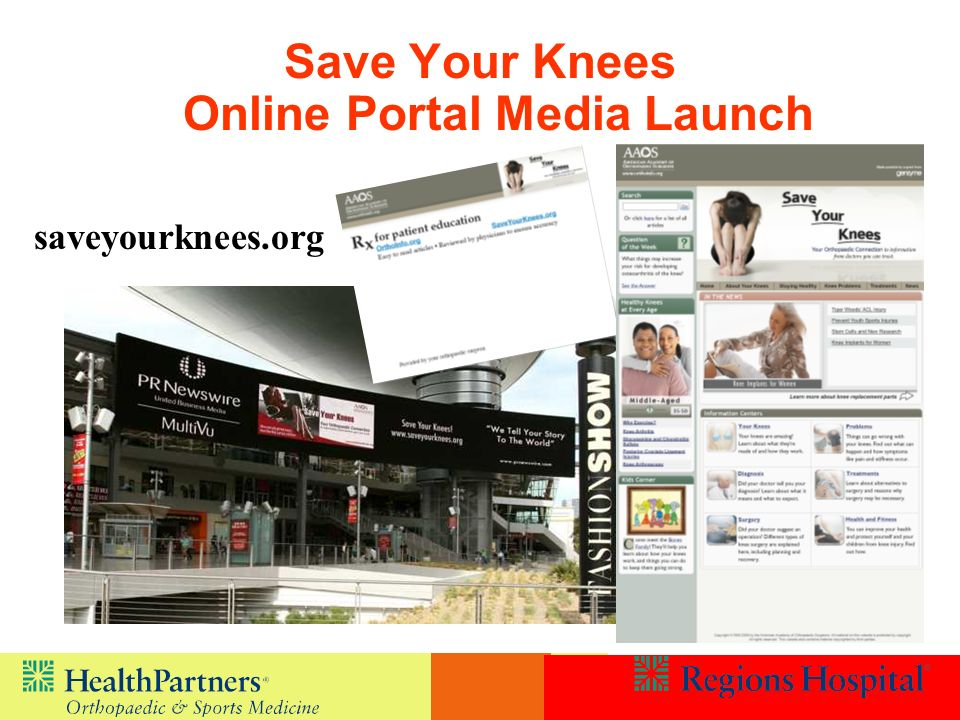 Save Your Knees Online Portal Media Launch
