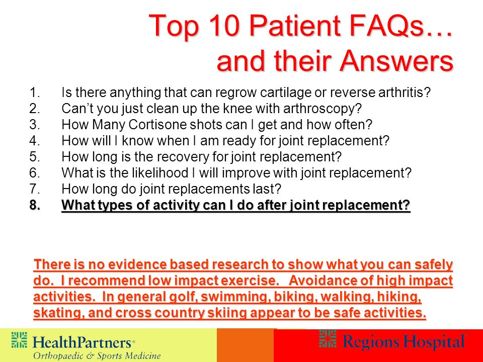 Top 10 Patient FAQs… and their Answers