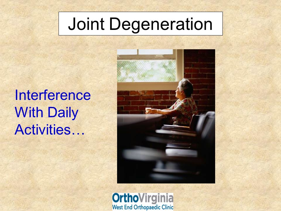 Joint Degeneration Interference With Daily Activities…