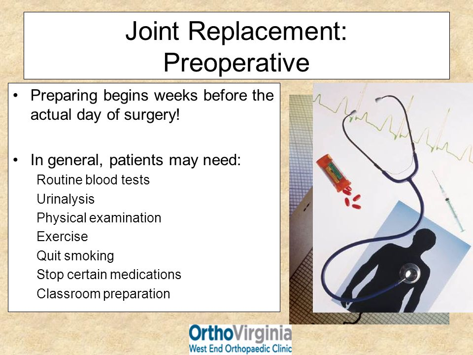 Joint Replacement: Preoperative
