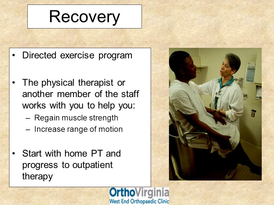 Recovery Directed exercise program