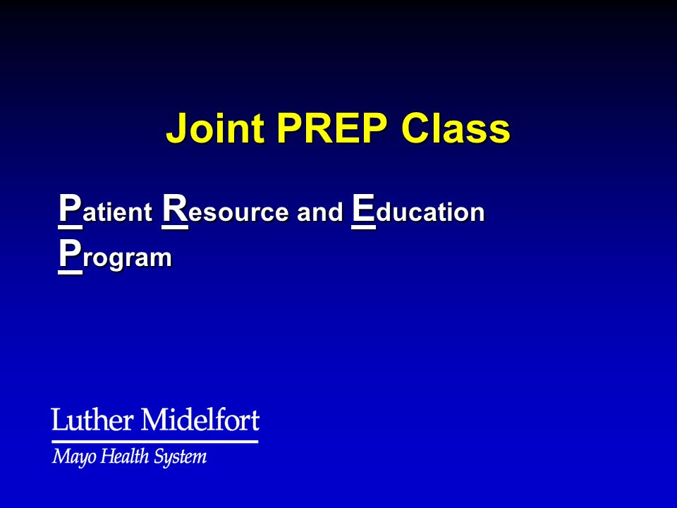 Patient Resource and Education Program