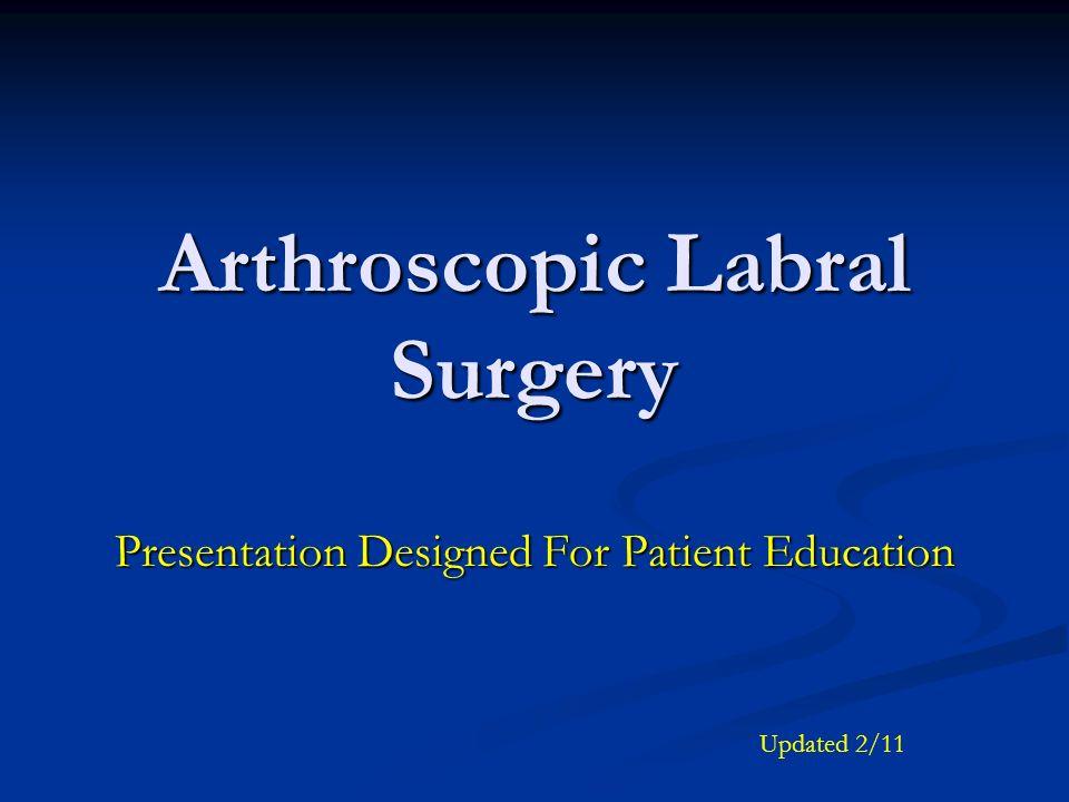 Arthroscopic Labral Surgery