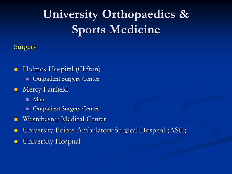 University Orthopaedics & Sports Medicine
