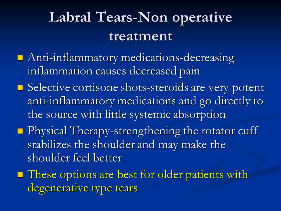 Labral Tears-Non operative treatment