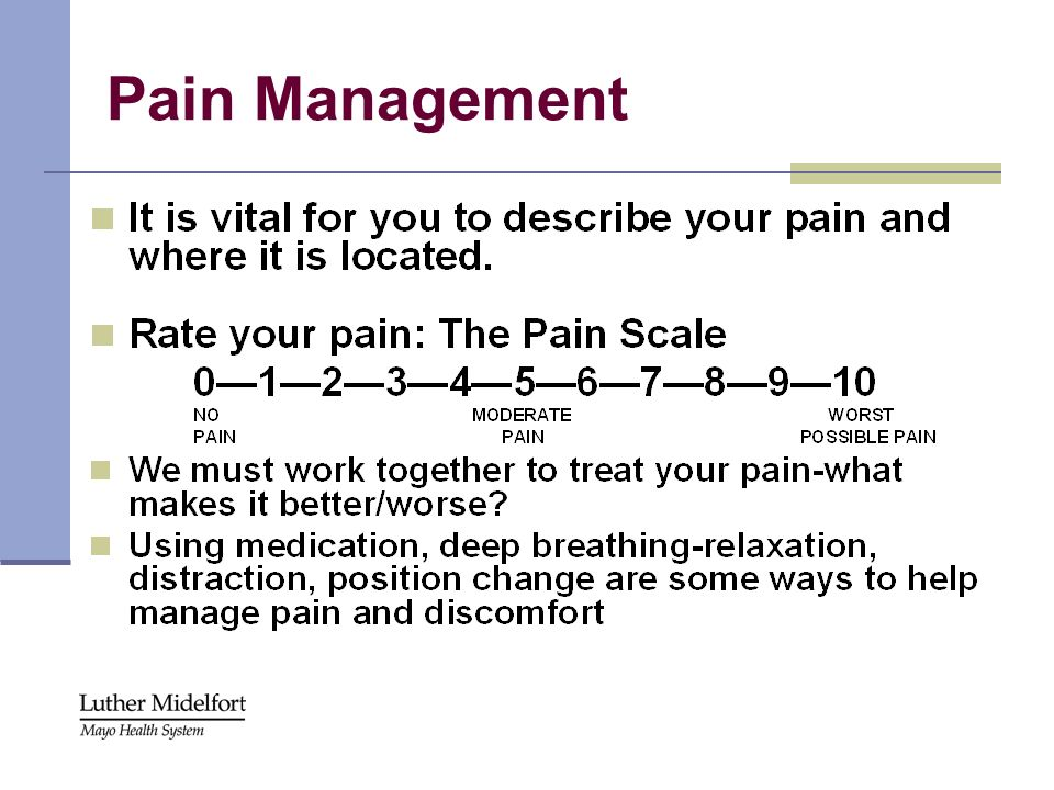 Pain Management Read slide