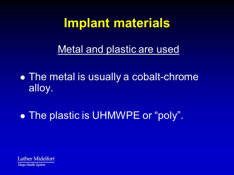 Metal and plastic are used