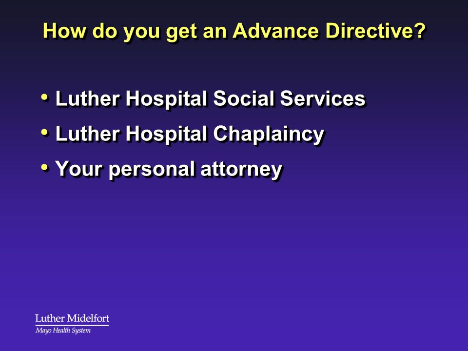 How do you get an Advance Directive