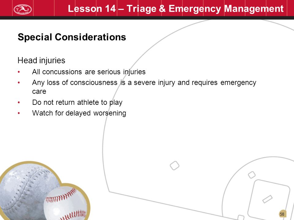 Lesson 14 – Triage & Emergency Management